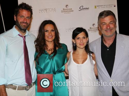 Peter Hermann, Mariska Hargitay, Hilaria Thomas Baldwin and Alec Baldwin 1