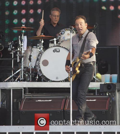 Bruce Springsteen performs