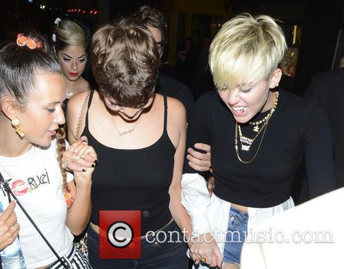 Miley Cyrus and Pixie Geldof 1