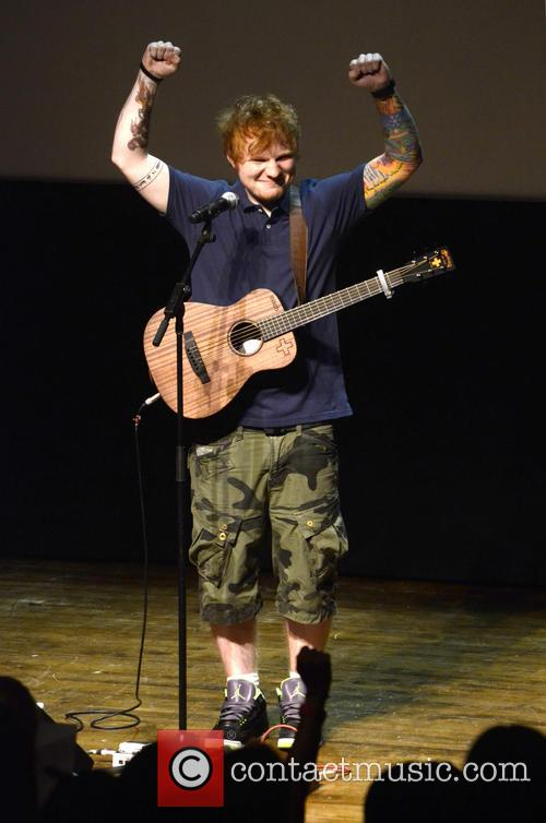 Ed Sheeran performs at the Philadelphia Museum of...