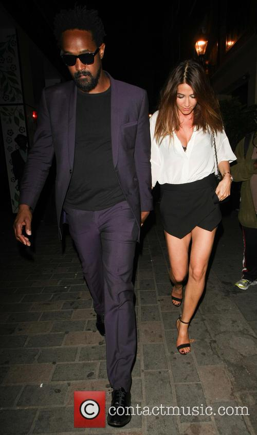Lisa Snowdon pictured leaving the Cirque le Soir...