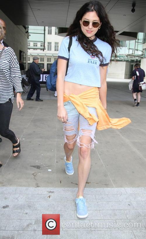 Eliza Doolittle exits Radio One wearing shoes in...