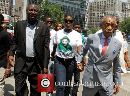 Al Sharpton, Benjamin Crump and Sabrina Fulton 2