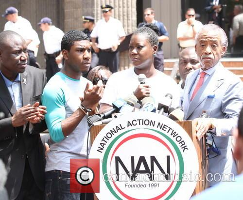 Al Sharpton, Attorney Benjamin Crump, Jahvaris Fulton, Sybrina Fulton and Justice 8