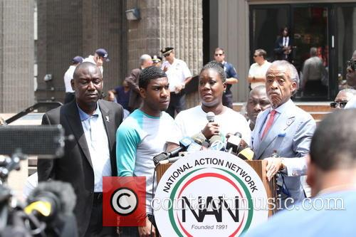 Al Sharpton, Attorney Benjamin Crump, Jahvaris Fulton, Sybrina Fulton and Justice 9