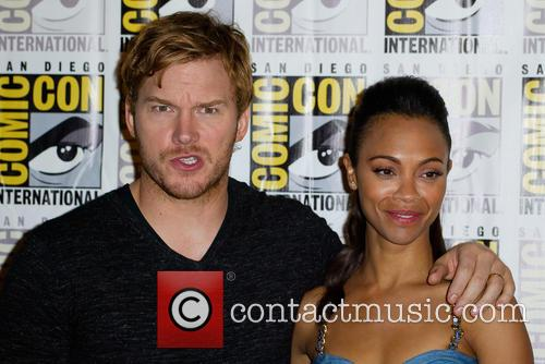 Chris Pratt and Zoe Saldana