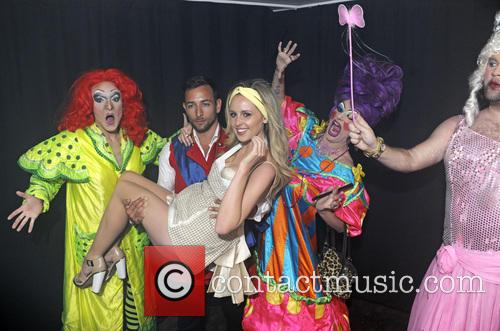 Diana Vickers backstage at G-A-Y