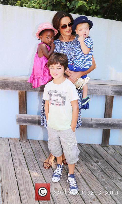 Mariska Hargitay, Amaya Andrew and August 2