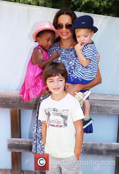 Mariska Hargitay, Amaya Andrew and August 1