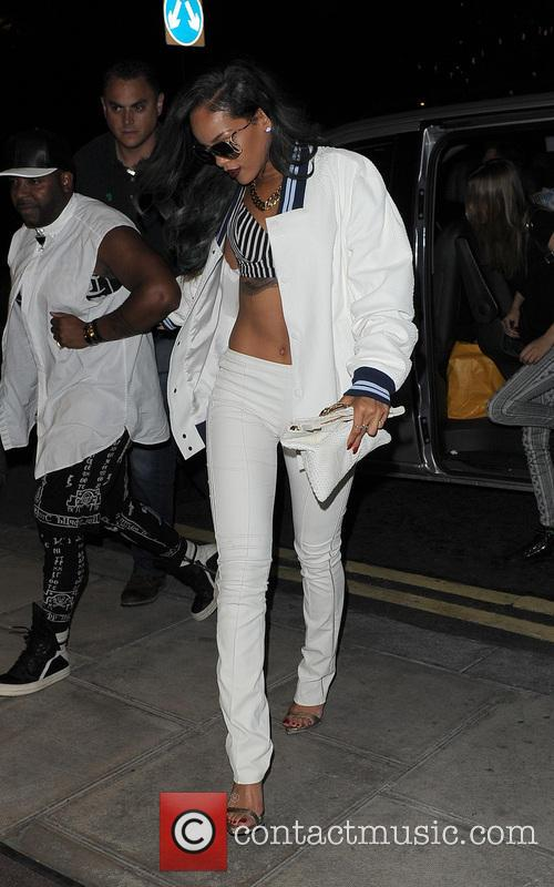 Rihanna enjoys a night out at Cirque Le Soir with friends including Cara Delevingne and Melissa Forde