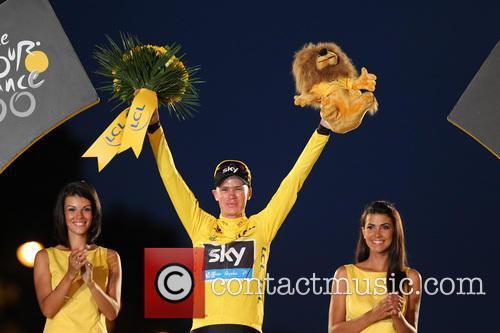 Britain's Chris Froome is corwned the overall winner...