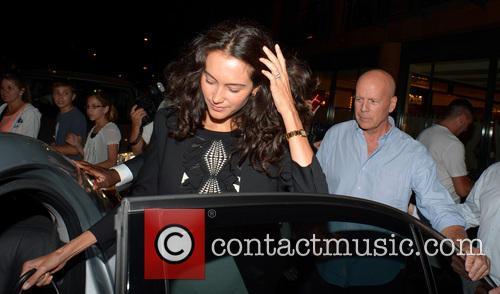 bruce willis emma heming celebrities outside c london 3775365