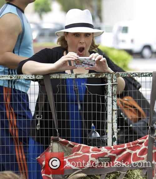 Carnie Wilson visits the Farmers Market with her family