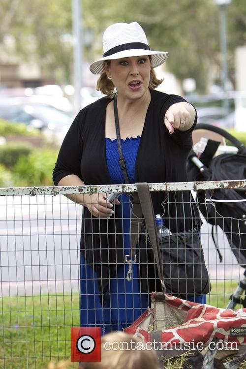 Carnie Wilson visits the Farmers Market with her...