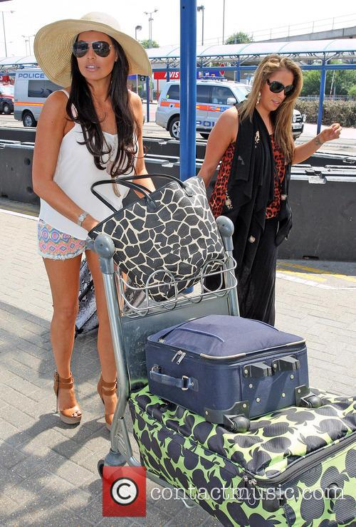 Jessica Wright arrives at London City Airport