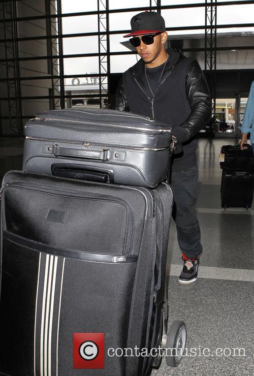 Lewis Hamilton arrives at LAX (Los Angeles International)...