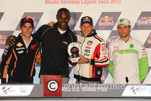Stefan Bradl, Marc Marquez and Tyson Beckford 2