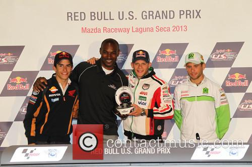 Stefan Bradl, Marc Marquez and Tyson Beckford 3