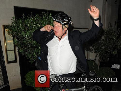 Boris Johnson Leaves Scotts Restaurant