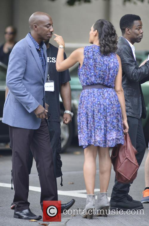 Jb Smoove and Rosario Dawson