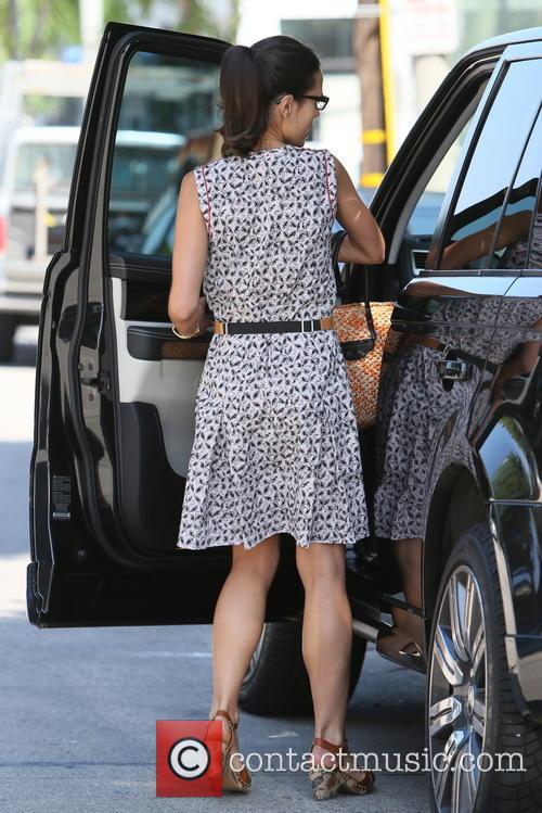 Jordana Brewster leaving Mayfair House