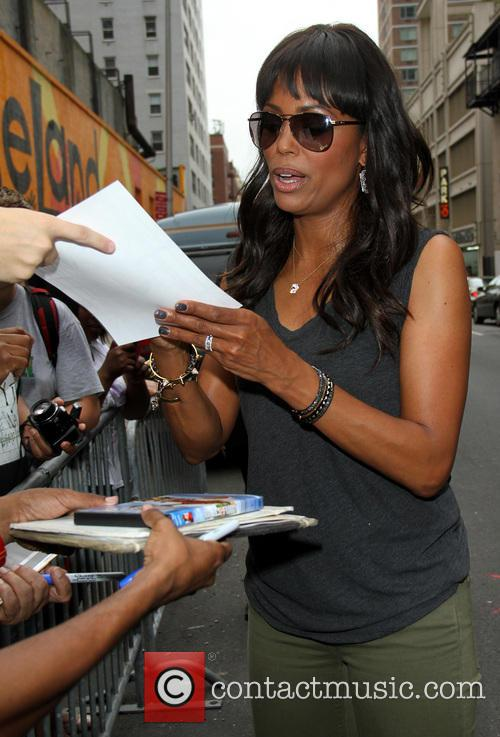 aisha tyler celebrities arrive for the late 3776657