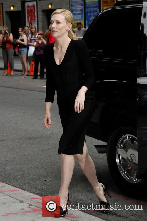cate blanchett celebrities arrive for the late 3776655