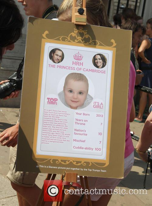 Top Trumps places spoof baby announcement cards outside...