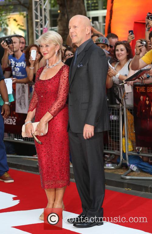 Dame Helen Mirren and Bruce Willis 3