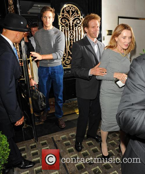 Jerry Bruckheimer and Armie Hammer with wifes