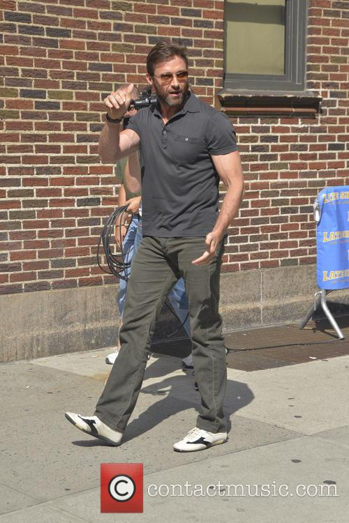 huge jackman celebrities outside the letterman show 3777968