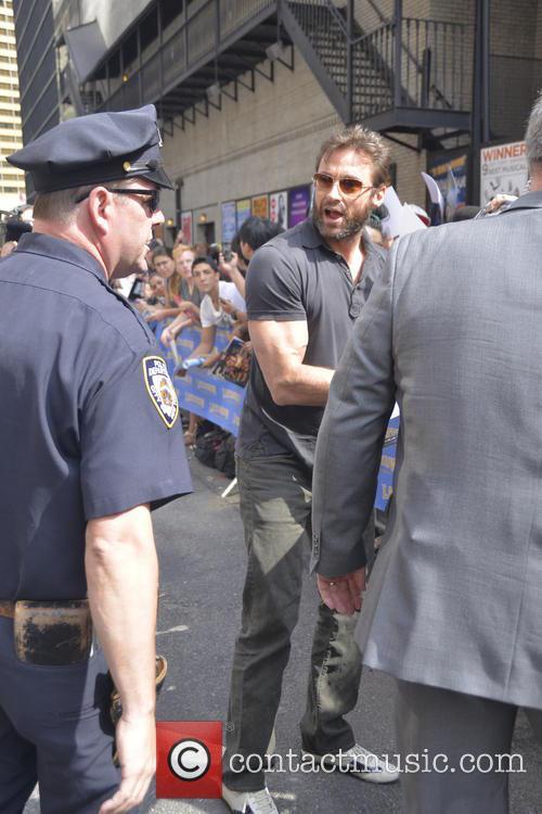 huge jackman celebrities outside the letterman show 3777975