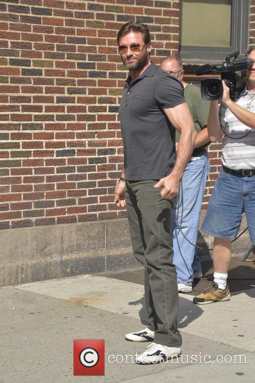 huge jackman celebrities outside the letterman show 3777976