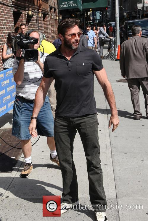 hugh jackman celebrities outside the letterman show 3779072