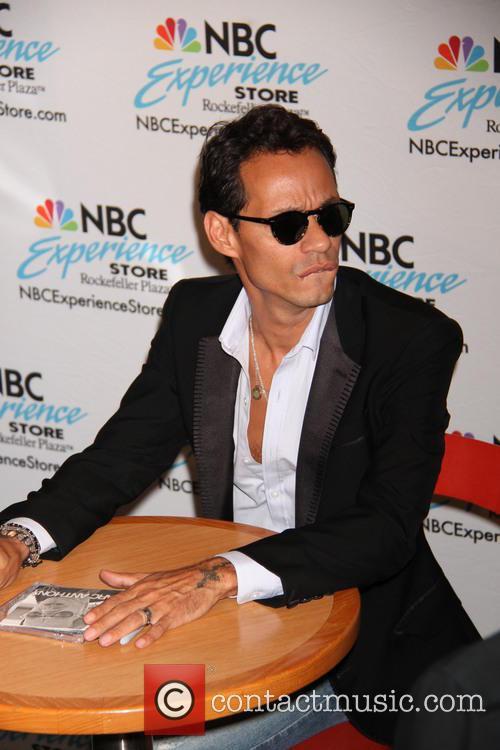Latin musician Marc Anthony promtes his new album...