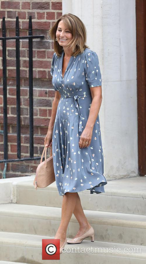 Carole Middleton and Michael Middleton leave The Lindo...