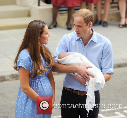 Prince William, Duke of Cambridge, Catherine, Duchess of Cambridge and Baby Cambridge 15