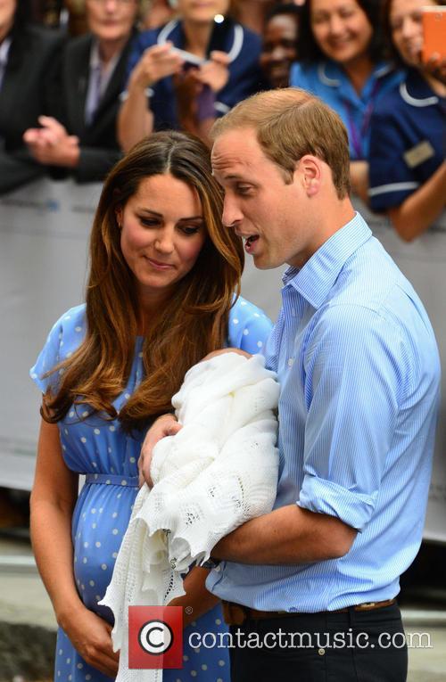 Prince William, Duchess of Cambridge, Duke of Cambridge, Newborn Where: London, United Kingdom, Kate Middleton