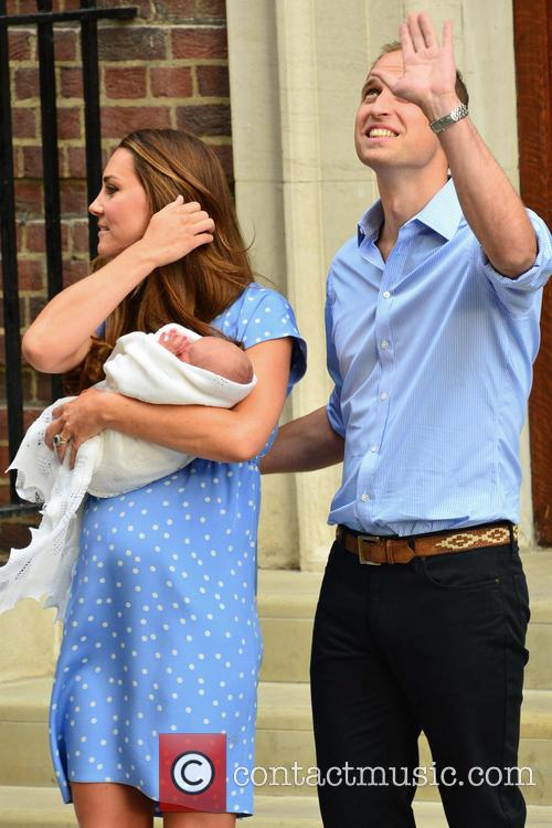 Prince William, Duke of Cambridge, Catherine, Duchess of Cambridge and Baby Cambridge 33