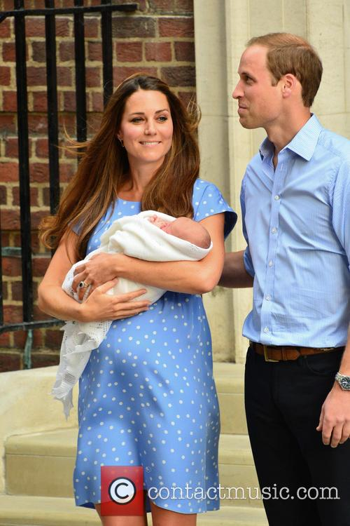 Prince William, Duke of Cambridge, Catherine, Duchess of Cambridge and Baby Cambridge 34