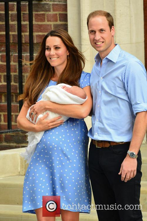 Prince William, Duke of Cambridge, Catherine, Duchess of Cambridge and Baby Cambridge 35