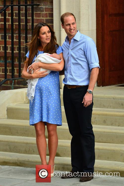 Prince William, Duke of Cambridge, Catherine, Duchess of Cambridge and Baby Cambridge 37