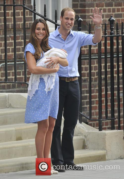 Prince William, Duke of Cambridge, Catherine, Duchess of Cambridge and Baby Cambridge 75