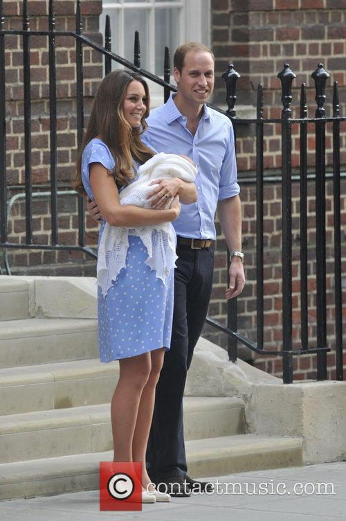 Prince William, Duke of Cambridge, Catherine, Duchess of Cambridge and Baby Cambridge 78