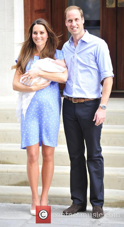 Prince William, Duke of Cambridge, Catherine, Duchess of Cambridge and Baby Cambridge 2
