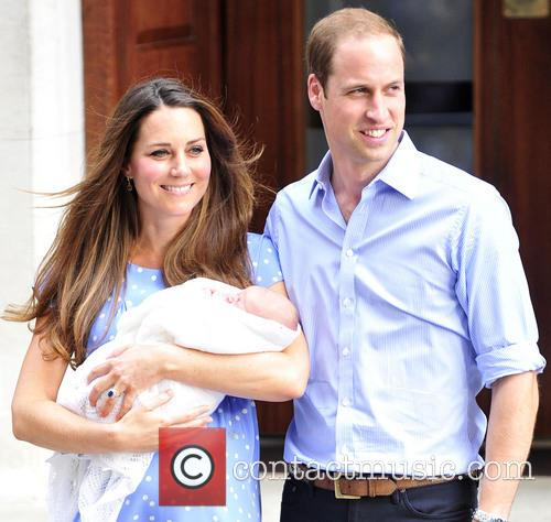 Prince William, Duke of Cambridge, Catherine, Duchess of Cambridge and Baby Cambridge 5