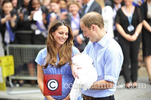 Prince William, Duke of Cambridge, Catherine, Duchess of Cambridge and Baby Cambridge 6
