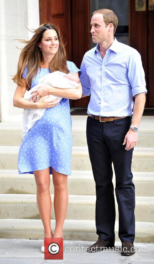 Prince William, Duke of Cambridge, Catherine, Duchess of Cambridge and Baby Cambridge 8