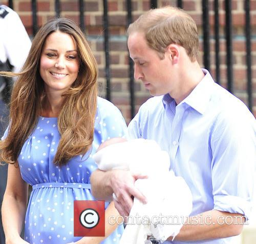 Prince William, Duke of Cambridge, Catherine, Duchess of Cambridge and Baby Cambridge 12