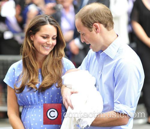 Prince William, Duke of Cambridge, Catherine, Duchess of Cambridge and Baby Cambridge 13